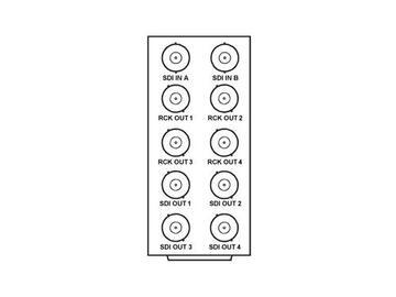 RM20-9502-A 20-slot Frame Rear I/O Module (Stand Wdth) 3G/HD/SD-SDI by Cobalt Digital