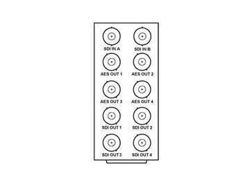 RM20-9502-F 20-slot Frame Rear I/O Module (Stand Wdth) 3G/HD/SD-SDI by Cobalt Digital