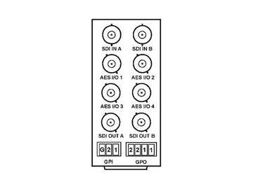 RM20-9901-D 20-slot Frame Rear I/O Module (Stand Wdth) 3G/HD/SD-SDI by Cobalt Digital