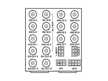RM20-9901-E 20-slot Frame Rear I/O Module (D Wdth) 3G/HD/SD-SDI BNC by Cobalt Digital