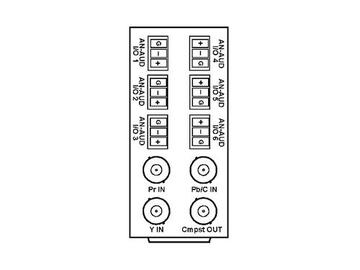RM20-9901-XD 20-slot Frame Rear I/O Module (St W) Comp/AA (w Base RM) by Cobalt Digital