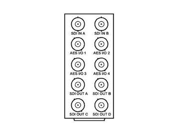 RM20-9921-B 20-slot Frame Rear I/O Module (Stand Wdth) 3G/HD/SD-SDI by Cobalt Digital