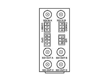 RM20-9921-H 20-slot Frame Rear I/O Module (Stand Wdth) 3G/HD/SD-SDI by Cobalt Digital