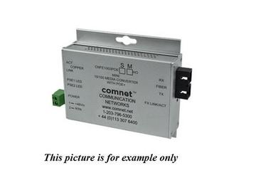 CNFE1003POEMHO/M 2fiber SM SC Hardened 100Mbps MediaConverter 48V POE 60W by Comnet