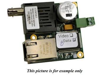 CNFE1M1A/2 1fiber MM ST connector (A) 100Mbps InDome Media Converter by Comnet