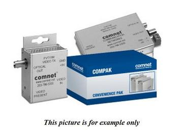 COMPAK11M MM 1Fiber Mini FVT/R11M Video Extender (Transmitter/Receiver) Kit by Comnet