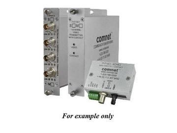 FVR10C1M1/M 10 Bit MM 1fiber Digitally Encoded Video Extender(Receiver)/Contact Closure by Comnet