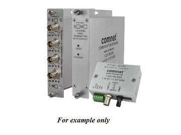 FVR40C4M4 10Bit SM 4fiber Quad Digitally Encoded Video Extender (Receiver)/Contact Closure by Comnet