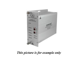 FVR412M1 MM 1fiber 4 Channel Video Extender (Receiver) 2 Bi-directional Data Channels by Comnet