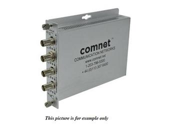FVR4C4BS4 Multimode 4 Channel Fiber Digitally Encoded Video Extender (Transmitter)/Contact Closure by Comnet