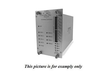 FVR8018S1 SM 1fiber 8 Channel Video/8 Bi-directional Data Extender (Receiver) by Comnet