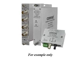 FVT10C1S1/M 10 Bit SM 1fiber Digitally Encoded Video Extender (Transmitter)/Contact Closure by Comnet