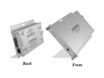 FVT10D1EM MM 1fiber Video Extender (Transmitter) with/Bi directional Data Up the Coax by Comnet