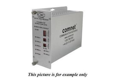 FVT4012S1 SM 1fiber 4 Channel Video Extender (Transmitter) with 2 Bi directional Data Channel by Comnet