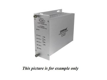 FVT40A4S SM 1fiber 4 Channel Digitally Encoded Video/Audio Extender (Transmitter) by Comnet