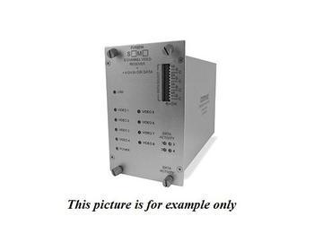 FVT8014S1 SM 1fiber 8 Channel Video/4 Bi-directional Data Extender (Transmitter) by Comnet