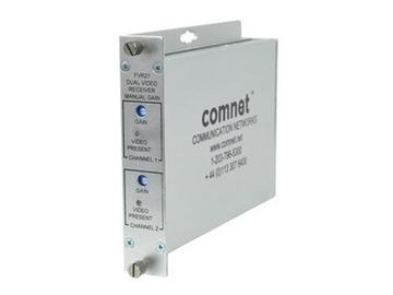 FVR21/LV MM 2fiber optic AM Video Extender (Receiver) with Gain/Loss Relay by Comnet
