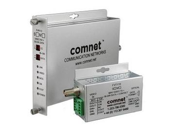 FVT110S1 SM 1 Fiber Digitally Encoded Video Transmitter with Data Transceiver by Comnet