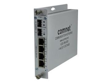 CNGE2FE4SMSPoE 6 Port Ethernet Switch Two 1000 FX SFP Port/Four 10/100 TX POE by Comnet
