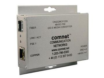 CNGE2MCPOEM 1000Mbps Media Converter 48V POE/Power Supply Included by Comnet