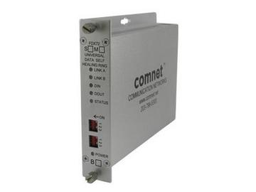 FDX72M1SHR Universal Rs232/422/485 Self Healing Ring Data Extender (Transceiver) by Comnet