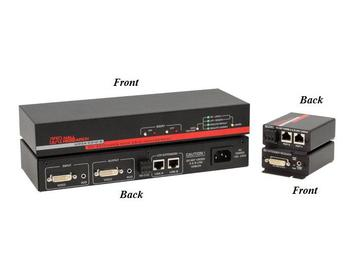 UD2A-EDID DVI Extender with RS-232/Audio/EDID Management (Transmitter/Receiver) Kit by Hall Research