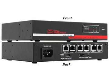UH-2D-3S 3-Port HDMI on Dual UTP Extender (Splitter) by Hall Research