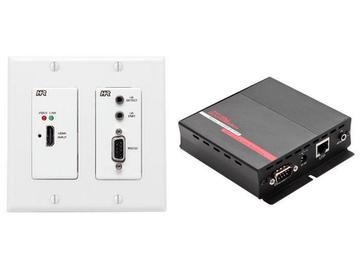 UHBX-WPC-P2 HDMI/RS232/IR/PoH Extender (Transmitter/Receiver) Kit  HDBaseT (Wall Plate) by Hall Research