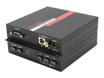 TVB-250 Composite and S-Video to VGA/Component converter by Hall Research