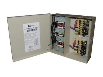 PWR-16AC-16A 16 Channel Fused Power Distribution Box/24Vac/16 Amps by ICRealtime