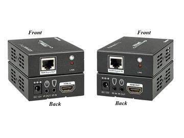 EXT-HD100MHBT 4K2K Compliant HDBaseT/HDMI Extender (Transmitter/Receiver) Kit with/ PoE by KanexPro