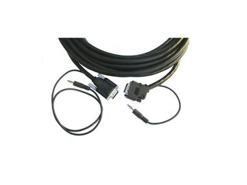 CP-GMA/GMA/XL-35 15-pin HD (M-M)   3.5mm Plenum Cable/ Molded Straight to Backshell 45 - 35ft by Kramer