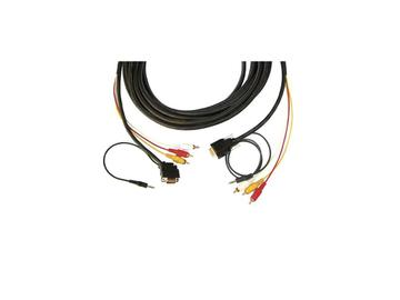 CP-MH1/MH1/XL-50 15-pin HD (M)/ 3.5mm   3 RCA Plenum Cable/ Backshell 45 15-pin HD at one end - 50ft by Kramer