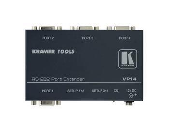 VP-14 4 Port RS-232 Port Extender by Kramer