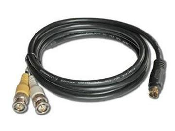 C-SM/2BM-6 4-Pin (M) to 2 BNC (M) s-Video Breakout Cable - 6ft by Kramer