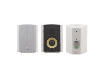 YARDEN 5-O(W) 5.25 inch On-Wall 2-Way Speakers/Made w Kevlar Woofers/White by Kramer