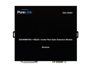 DRS1000RV 4 LC Fiber UTP/Audio to DVI/HDMI/VGA Extender (Receiver) by PureLink