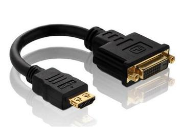PI060 HDMI M to DVI F Port Saver Adapter with TotalWire Technology by PureLink