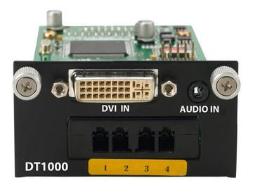 DT1000 4 LC Fiber to DVI/Analog Audio Extender (Transmitter) by PureLink
