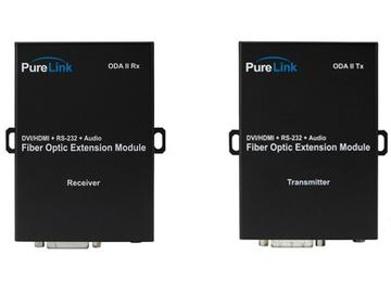 ODA II Tx/Rx DVI  Audio/RS-232 over 2 LC Fiber Extender (Transmitter/Receiver) Kit by PureLink