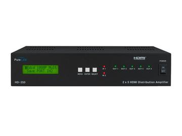 HD-250 2x5 HDMI I/O Full HD Distribution Amplifier by PureLink