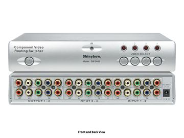 SB-5460 4x2 Component Routing Switcher( IR) - 230Mhz by Shinybow
