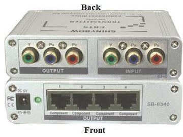 SB-6340T CAT5 COMPONENT VIDEO Extender (TRANSMITTER) by Shinybow