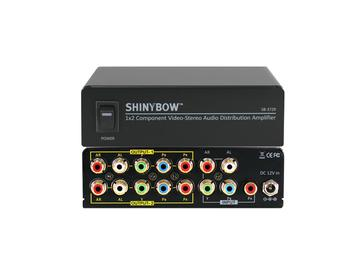 SB-3729 1x2 Component Video Distribution Amplifier w Stereo Audio by Shinybow