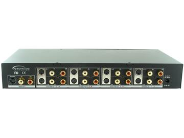 SB-3709MRM 1x8 S-Video/Stereo Audio Distribution Amplifier by Shinybow