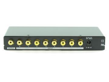 SB-5440RCA 8x1 Composite Video Switcher (RCA) w/ IR Remote control by Shinybow