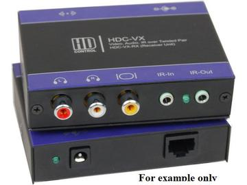 HDC-VX-RXS VGA Extender (Receiver) over CAT5 up to1000ft Supports PAL/NTSC/SECAM by Smartavi