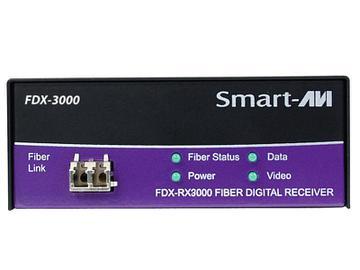 FDX-3000S DVI-D/KVM/RS232 over Singlemode Fiber Extender (Transmitter/Receiver) Kit 1400ft/1920x1200 by Smartavi