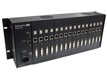 RK-DVX-PLUS-RX4S 4-Port DVI-D/USB Receiver RACK for RK-DVX-PLUS (275ft / 2xCAT6 STP cables) by Smartavi
