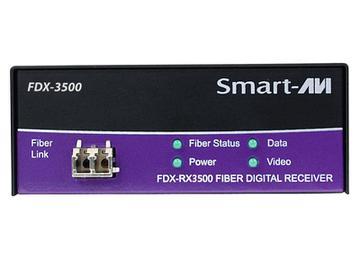 FDX-3500S DVI-D/KVM/RS232 over Singlemode Fiber Extender (Transmitter/Receiver) Kit 15Km/1920x1200 by Smartavi